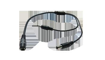 2 to 1 splitter for 12v 2.1mm 5.5mm adapter