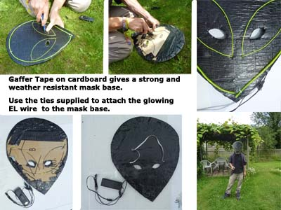 making an el wire alien mask