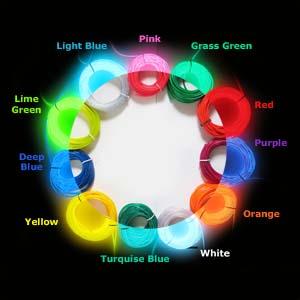 el wire colour chart