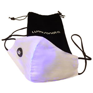 glowing, colour changing fibre optic surgical face mask great for parties or festivals