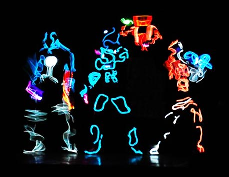 robo dance act supplied by EL Wire Craft
