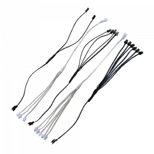 Standard splitters for el wire from 2-way to 6-way black or clear/white