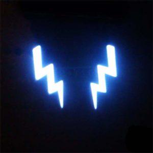 EL Tape Lightning Bolt in White or Aqua  – 10cm long