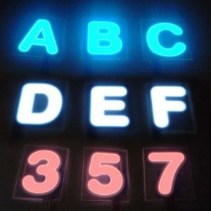 GLOWING LETTERS EL Panel Alphabet