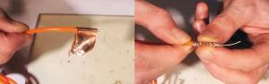 putting copper tape round el wire
