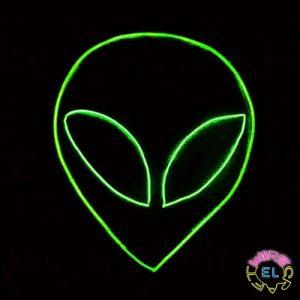 Glow EL Wire Alien Halloween Set