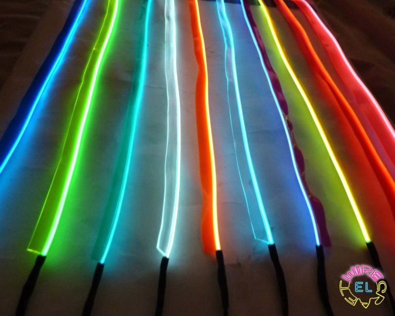 Sewable EL Wire – Easy Sew Tag @ £3.50 per metre | EL Wire Craft