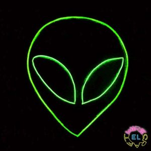 El Wire Glow Alien Set