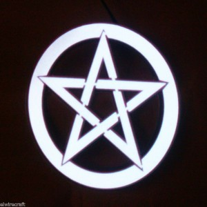 Glowing Pentacle Made From EL Tape