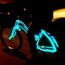 Burning Man Festival EL Wire Set for Bike