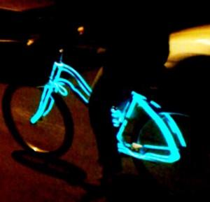 Burning Man Festival EL Wire Set for Bike