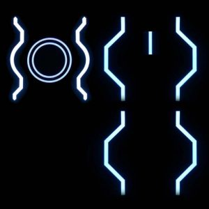 Siren Gem Glowing Tron EL Panel Set