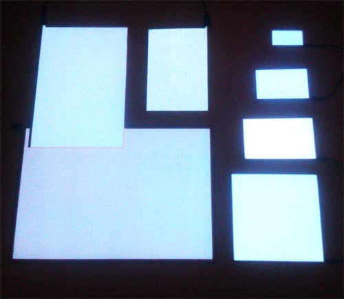 White EL Panel in Many Sizes A6, A5, A4, A3, A2 and A1
