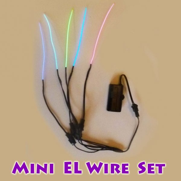 Mini El Wire Set = 5 x 10cm EL Wire + Mini Driver