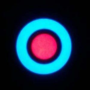 EL Tape Bullseye! 6cm EL Hoop with 3cm EL Button