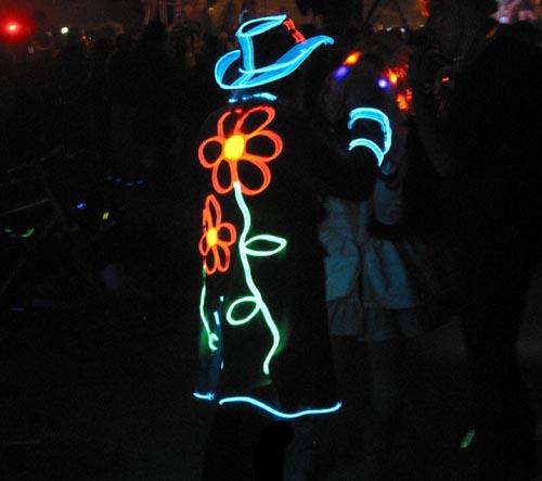 Burning Man Festival El Wire Set For Clothing