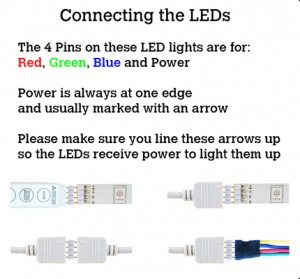 Connecting LED SMD 5050 to controller or splitter