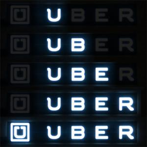Animated Glowing Uber Logo