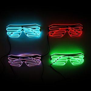 EL Wire Shutter Glasses