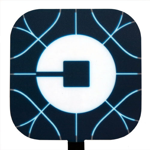 new glowing uber logo el panel