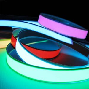 2cm x 1metre double ended EL Tape, glowing foil in seven colours