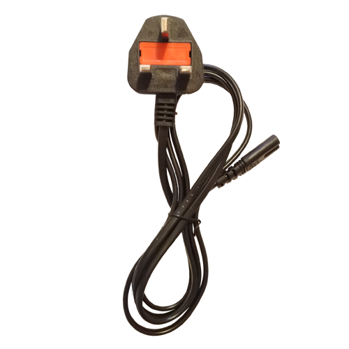 figure of 8 power lead with UK Plug IEC C7