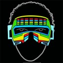Glowing Party Robot Visor