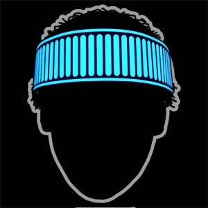 Glowing blue Party headband