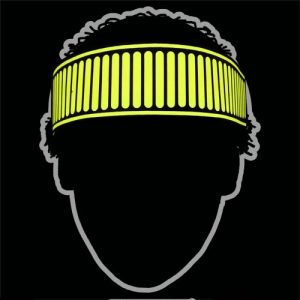 glowing yellow sound activated party headband