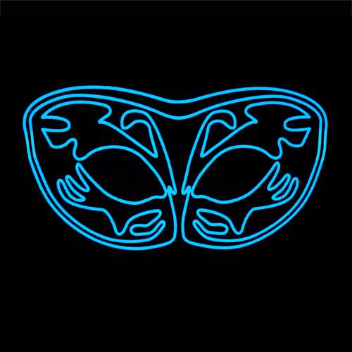 EL Panel Glowing Stag Pattern Mask