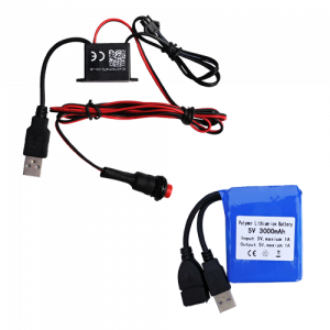 12v USB driver up to 5m with trigger switch and 3000mAh Li-ion rechargable battery
