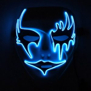 Glowing Dark Angel el wire mask with driver