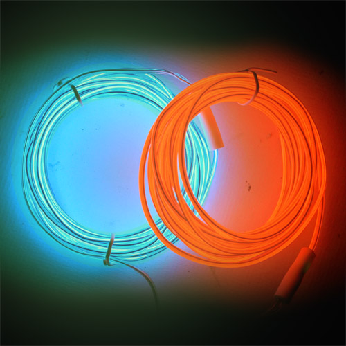 Stiff El Wire 2.3mm is bendy and mould-able in red and blue and several lenghts