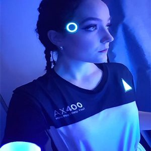 kara from detroit become human wearing glowing el panels